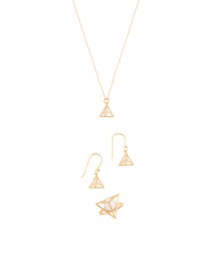 Made In India 18k Gold Plated Sterling Silver Pearl Pyramid Collection