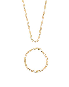 Men's Made In Italy 14k Gold Grande Marquise Chain Collection