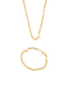 Made In Italy 14k Gold Plated Sterling Silver Rolo Chain Collection