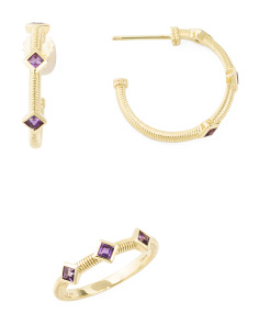 14k Gold And Amethyst La Petite Collection