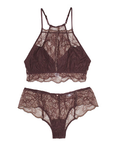 Saskia Halter Lace Bralette And Hipster Lingerie Collection