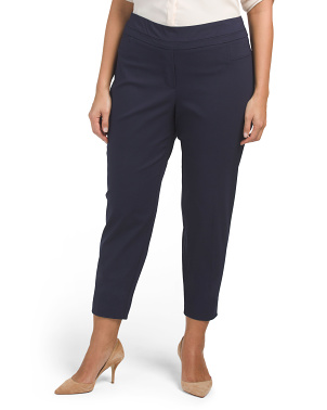Plus Pull On Ankle Pants