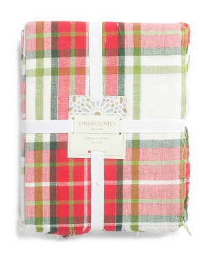 Sparkling Plaid Tablecloth