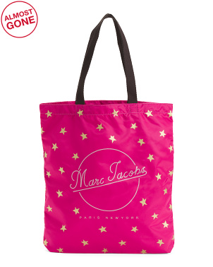 Printed Star Packable Shopper