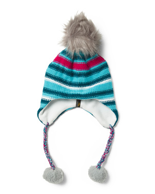 Mini Fleece Lined Pom Hat
