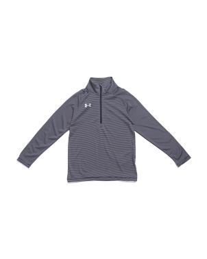 Girls Stripe Tech Quarter Zip Top