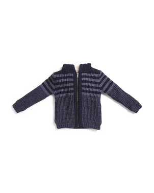 Toddler Boys  Ribbed Hooded Cardigan