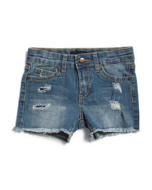 Little Girl Mid Rise Denim Shorts
