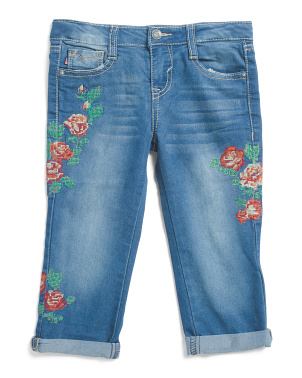 Little Girls Rose Garden Capris