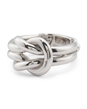 Made In Italy Sterling Silver Grande Knot Ring