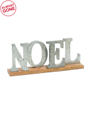 Galvanized Metal Noel Sign