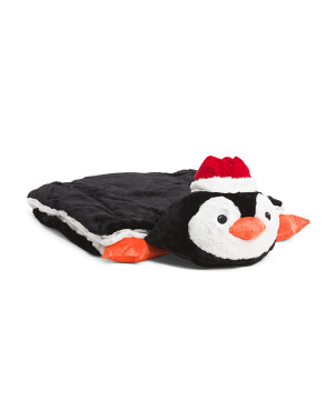 Santa Penguin Plush Sleeping Bag