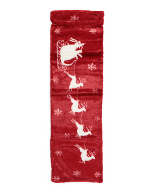 Santa Midnight Ride Table Runner