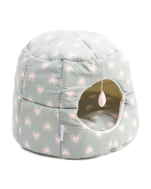 Heart Dot Cat Hut And Bed