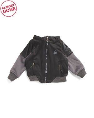 Toddler Boys Hooded Soft Shell Jacket