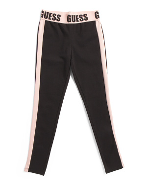 Big Girls Logo Waistband Ponte Leggings