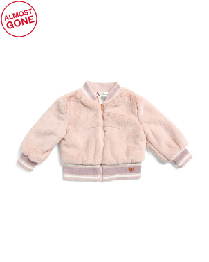 Infant Girls Faux Fur Bomber