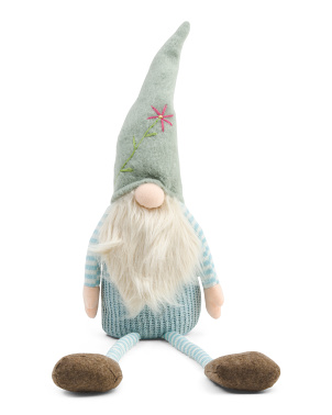 31in Fabric Sitting Gnome