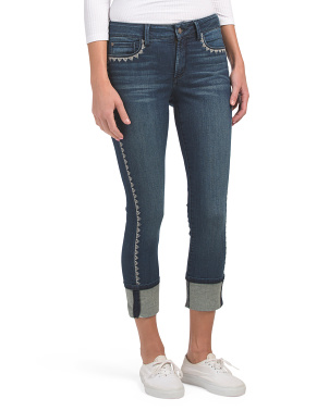 Petite Alina Wide Cuff Ankle Jeans
