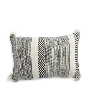 Made In India 16x24 Saybrook Textured Pillow
