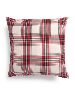 Made In India 20x20 Plaid Pillow
