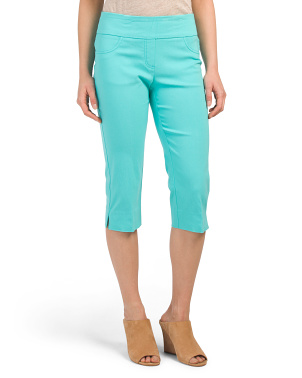 Petite Pull On Stretch Capris