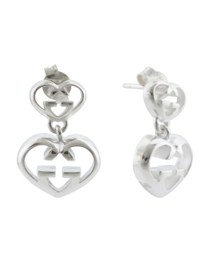 Made In Italy Sterling Silver Love Britt G Heart Earrings