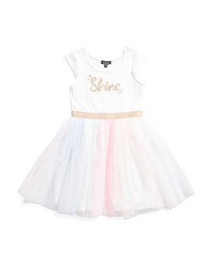 Little Girls Shine Tutu Dress