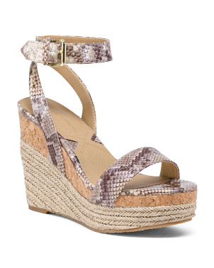 Ankle Wrap Wedge Espadrille Sandals