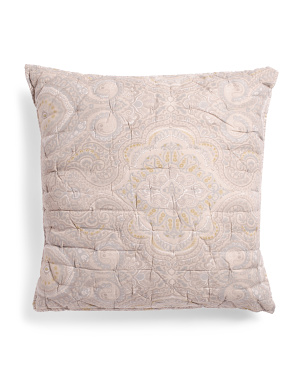 Cotton Linen Medallion Euro Pillow