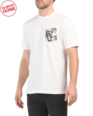 Mens Soft Wash Printed Pocket Tee