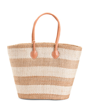 Handmade In Madagascar Large Straw Tote