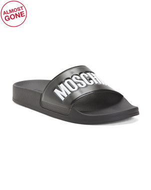Made In Italy Logo Slide Sandals