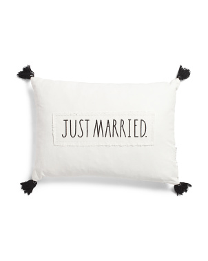 14x20 Just Married Pillow