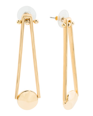Gold Tone Ball Drop Earrings