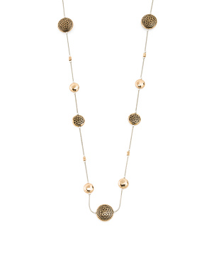 Reversible Crystal Disc Station Necklace