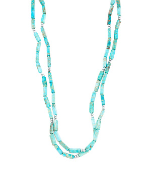 Turquoise Jasper And Hematite Endless Necklace