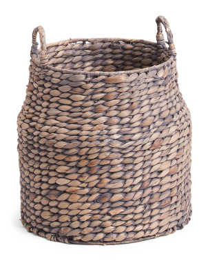 Water Hyacinth Round Basket