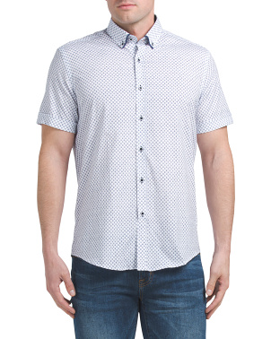 Short Sleeve Woven Printed Shirt