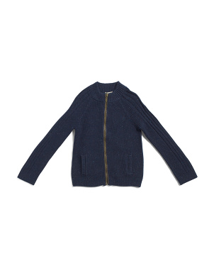 Toddler And Little Boys Zip Cardigan