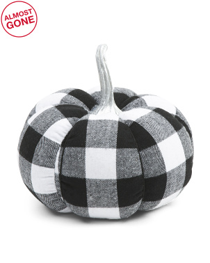 7in Buffalo Checkered Pumpkin
