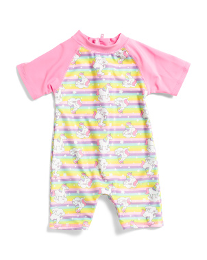 Infant Girls Dazzle Unicorn Rashguard