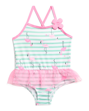 Toddler Girls Flamingo Swimsuit