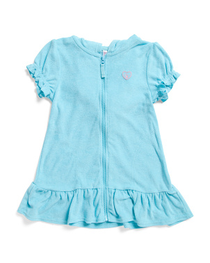 Little Girls Terry Hooded Cover-up