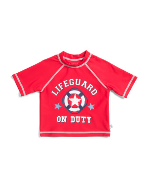Toddler And Little Boys Lifeguard On Duty Rashguard