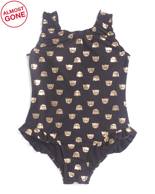 Toddler & Little Girls One-piece Swimsuit With Bow