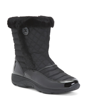 Comfort Quilted Mid Shaft Storm Boots