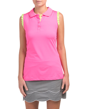Sleeveless Golf Tank With Ruffles