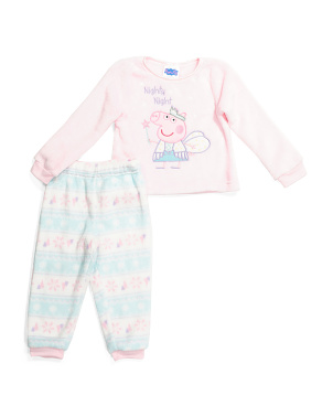 Toddler Girl 2pc Peppa Pig Cozy Sleep Set