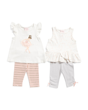 4 Piece Mix & Match Ballet Capris Set